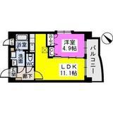 ピュア博多駅南壱番館 201号室 間取り