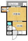 TOハイツⅠ 105号室 間取り