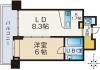 ネクサス百道レジデンシャルタワー 1203号室 間取り