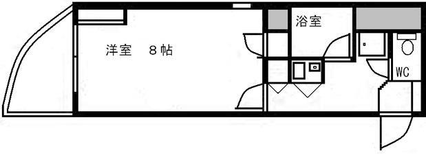 大蔵ビル桜坂 701号室 間取り