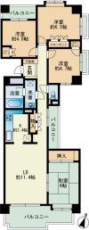 西新中央パークマンション 1009号室 間取り