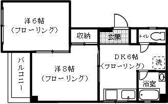 戌亥ビル 205号室 間取り