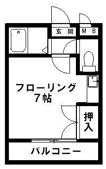 JR新宮センチュリー21 107号室 間取り