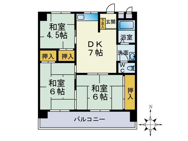 第3堺ビル 105号室 間取り