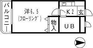 アクセス箱崎 303号室 間取り