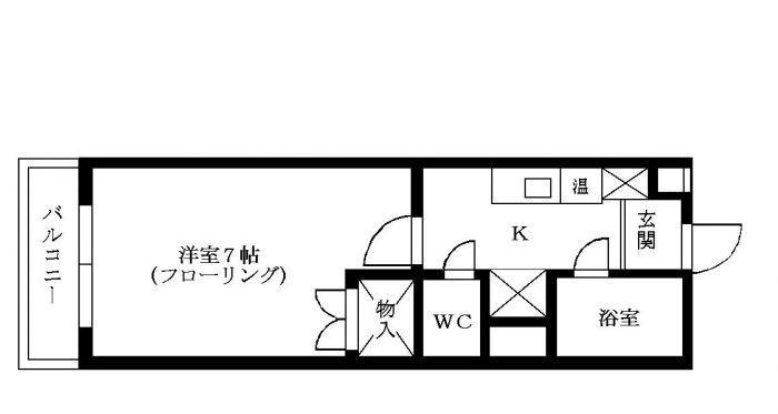 箱崎西城コーポ 403号室 間取り