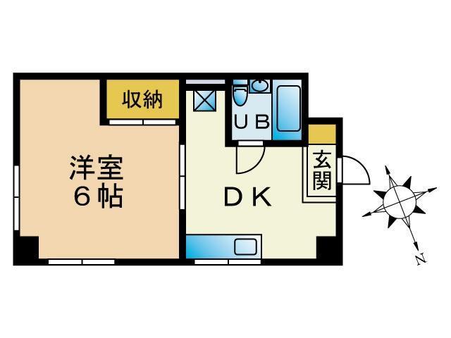 第一占部ビル 307号室 間取り