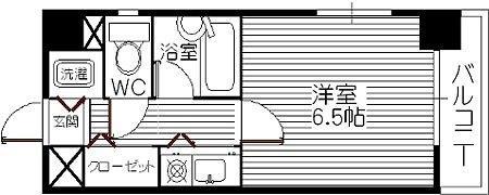 ドミ・エスポワール箱崎Ⅵ 704号室 間取り
