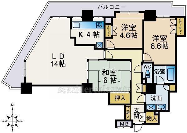 リベーラガーデンイーストタワー 407号室 間取り