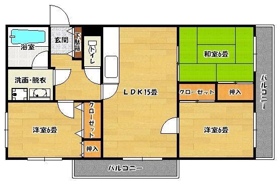 メゾンファミーユ 206号室 間取り
