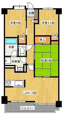 アンピール第5新室見 302号室 間取り
