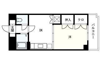 松栄パワーマンション 303号室 間取り
