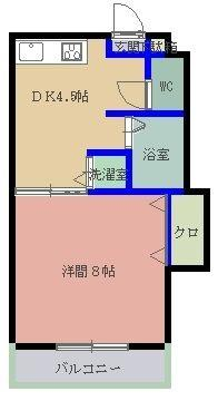 MYコーポⅡ 101号室 間取り