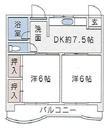 飯倉ガーデンハイツⅢ 203号室 間取り