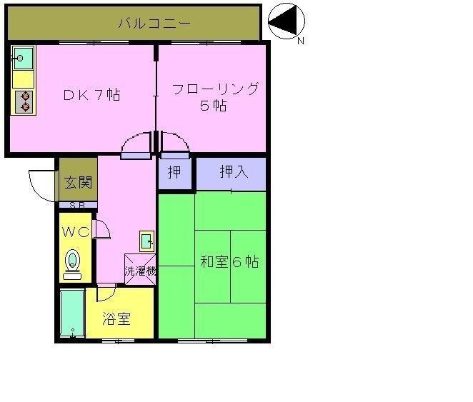 松崎コーポ 102号室 間取り