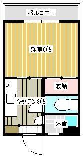 桜ハイツ 203号室 間取り