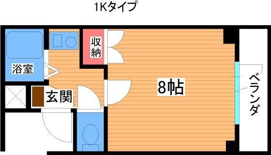 シャリエ飯倉 201号室 間取り
